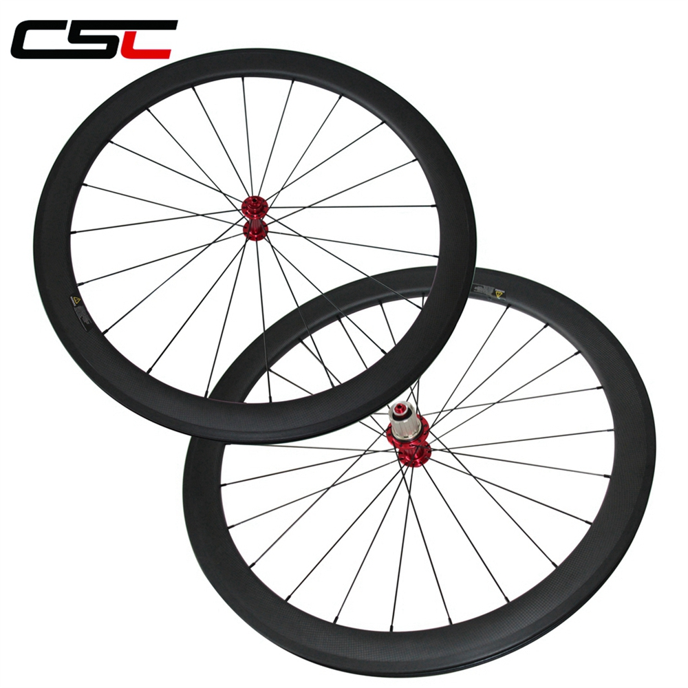 25mm Largeur U Forme Ultra Light Powerway R13 hub 38mm, 50mm, 60mm, 88mm Pneu Tubulaire roues de bicyclette de carbone