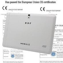 10 pouce D'origine 3G Appel Téléphonique Android Quad Core Android 4.4 Certification ce Tablet WiFi GPS FM Bluetooth 2G + 16G Comprimés Pc(China (Mainland))