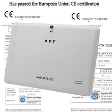 10 pulgadas Original 3G Llamada de Teléfono Android Quad Core Android 4.4 Certificación CE Tableta WiFi GPS FM Bluetooth 2G + 16G Tabletas Pc
