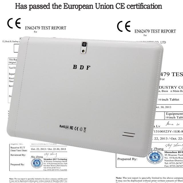10 polegada Original 3G Phone Call Android Quad Core Android 4.4 Certificação do CE Tablet WiFi GPS Bluetooth FM 2G + 16G Tablets Pc