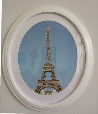 1 pc classic oval photo frame wall decoration ellipse picture frame white brown black wall frames