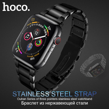 HOCO 316L for Stainless Steel Watch Strap for Apple Watch 42mm 44mm Link Wristb Bracelet Replacement Band for iWatch 1 2 3 4 original hoco 316l stainless steel band for apple watch series 4 3 2 1 metal wrist strap 42 44mm watchband replacement bracelet