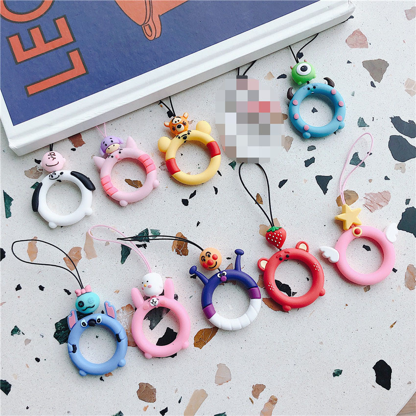 Universal Silicone Lanyard For Keys Phones Strap For IPhone 7 Plus 8 6S Keycord Lanyards Finger Rings Mobile Phone Accessories