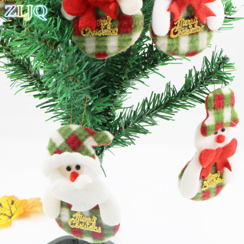 Us 2 84 Zljq 3pcs Clearance Sale Christmas Ornaments Gift Santa Claus Snowman Reindeer Toy Doll Hang Xmas Tree Decorations For Home In Pendant
