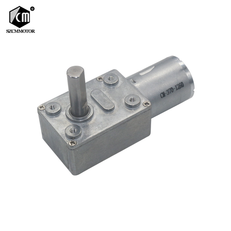Low RPM Speed Reducation DC Worm Geared Motors 2RPM to 150RPM Long M8 Type-D Shaft Reversible High Torque Turbo Worm Gear MotorLow RPM Speed Reducation DC Worm Geared Motors 2RPM to 150RPM Long M8 Type-D Shaft Reversible High Torque Turbo Worm Gear Motor