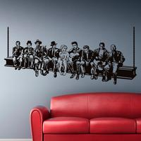 Hollywood Lunch Wall Sticker Movie Star Wall Decals American Style Home Decoration Mural House Decor For