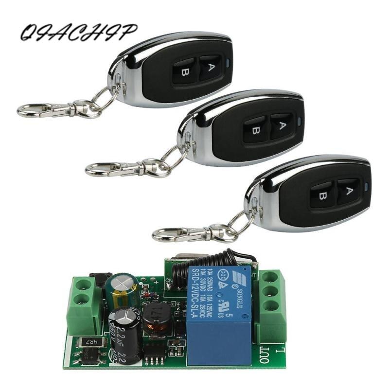 QIACHIP 433 Mhz interruptor de Control remoto inalámbrico AC 85 V ~ 250 V 110 V 220 V 1CH receptor módulo y RF 433 Mhz transmisores Z3