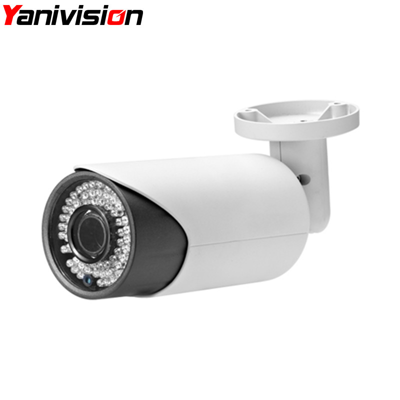 4X Surveillance CCTV Camera IP Security H.264 H.265 1080P 5MP IP Camera Night Vision 2.8-12mm Motorized Auto Focus Zoom Lens ds 2cd4026fwd a english version 2mp ultra low light smart cctv ip camera poe auto back focus without lens h 264