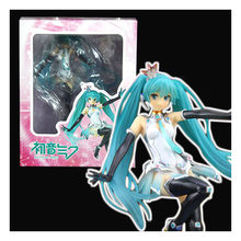 20cm Hatsune Miku Miku Racing car Hatsune Miku lovely action figure Toy Collection Movie Color sex girl nice girl electronic pet(China)