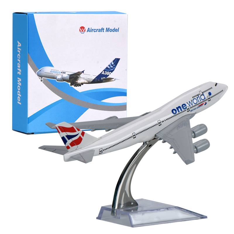 WR British Airways A380 Aircraft Model Ornamentation Toy UK Mini Airplane Model Home Dec ...