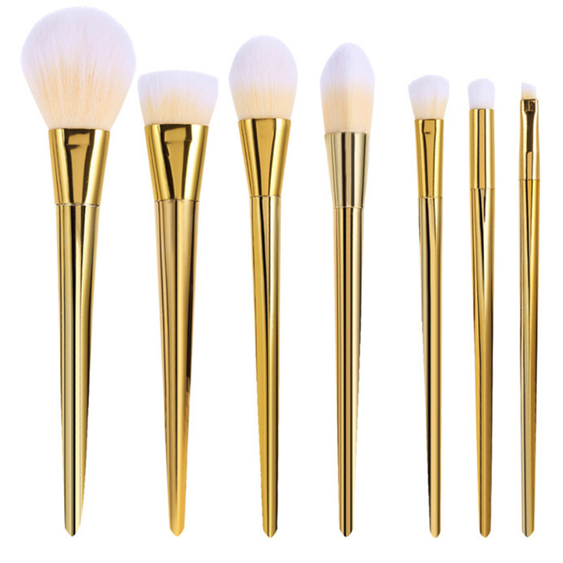 7pcs Makeup Brushes Set Rose Gold Silver Eyeshadow Eyebrow Foundation Powder Blending Cosmetic Brush Kit Beauty Make up Tools 15cs rose golden makeup brush set professional foundation powder eyebrow make up brushes luxury cosmetic tools kits os0620