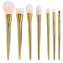 7pcs Makeup Brushes Set Rose Gold Silver Eyeshadow Eyebrow Foundation Powder Blending Cosmetic Brush Kit Beauty Make up Tools