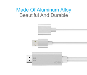 Image 2 - USB หญิงถึง HDMI Adapter, ปลั๊กแปลงสายสำหรับ iPhone iPad มาร์ทโฟนแท็บเล็ต HDMI HDTV