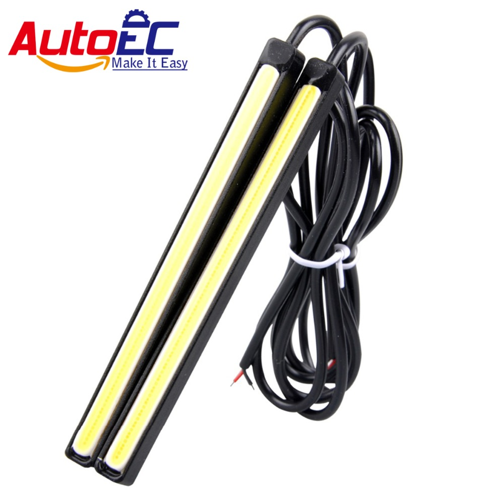 Autoec 20pair Car Cob Led Daytime Running Light 11cm Dc12v