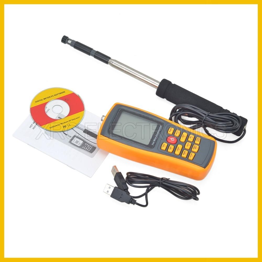 RZ GM8903 Anemometro Misuratore di velocità del vento Misurazione - Strumenti di misura - Fotografia 5