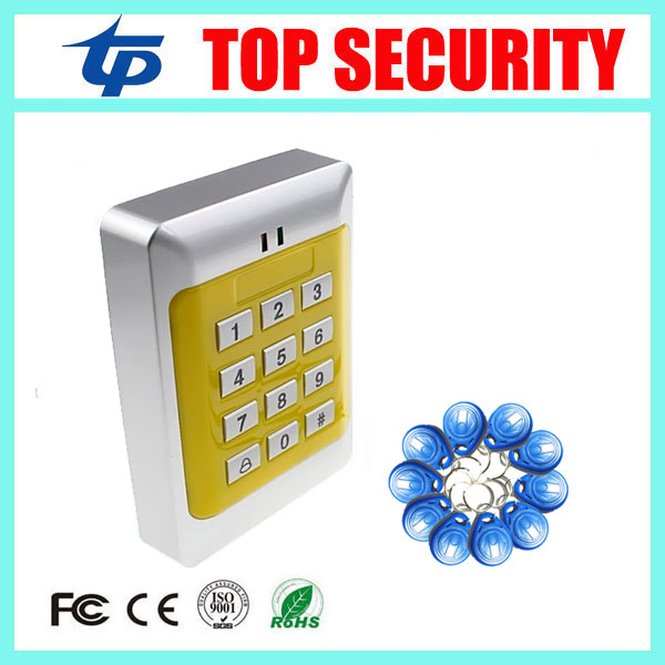 Door Mirror RFID Reader & Keypad Door access control system 1000 users standalone card access control reder +10pcs Keys rfid ip65 waterproof access control touch metal keypad standalone 125khz card reader for door access control system 8000 users