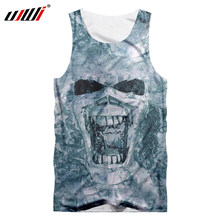 a4dc6428c1a98 UJWI 3d Tank Top Summer Tops Men Cool Print Roaring Skull Tank Tops Male  Casual Hip Hop Sleeveless Shirts Man Brand Clothing 5XL