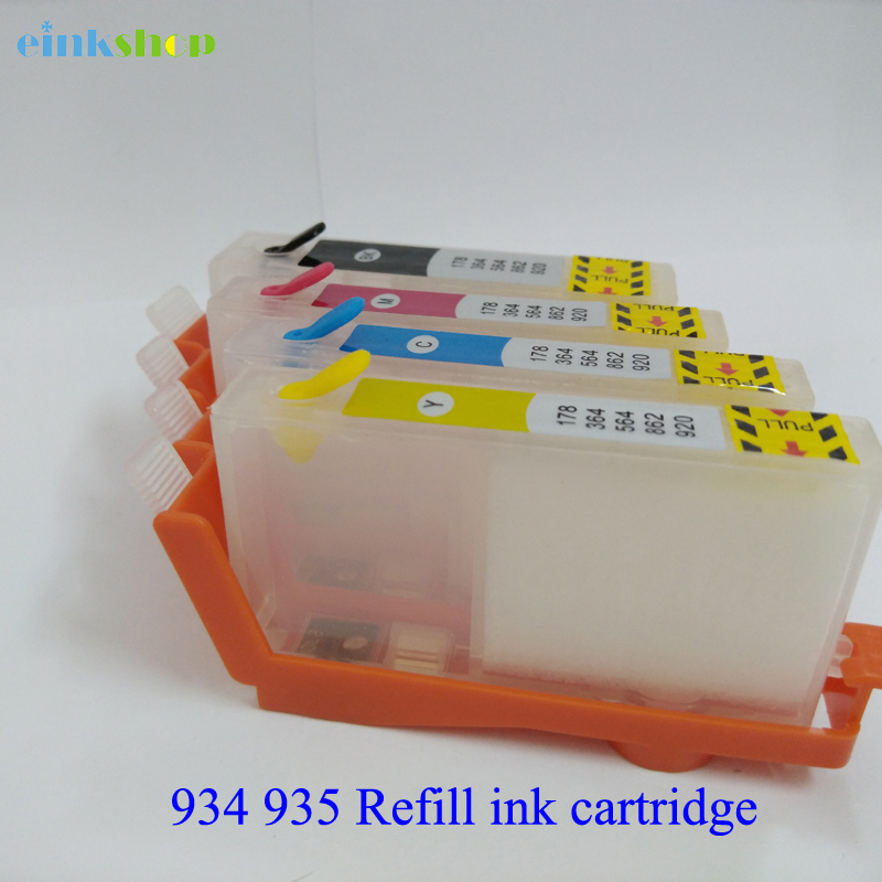 Einkshop Empty Refillable Ink Cartridge replacement For hp 934 935 934xl 935xl Officejet Pro 6830 6230 6815 6812 6835 Printer 850ml compatible empty refillable ink cartridge for epson stylus pro 10000 pro 10600 10000cf printers cartridge with chip t499