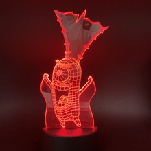 3D Lamp SpongeBob SquarePants Sheldon James Plankton Jr Gift for Children USB  Living Room Night Light Decoration
