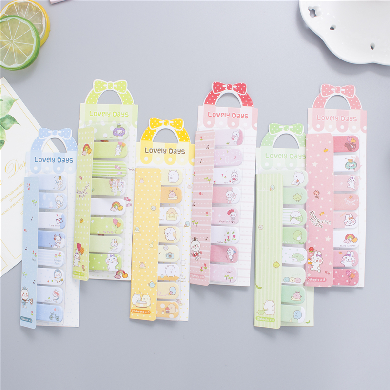24 pcs/Lot Lovely bowknot memo pad Animal post Stick book marker sticker stationery office accessories School supplies F530