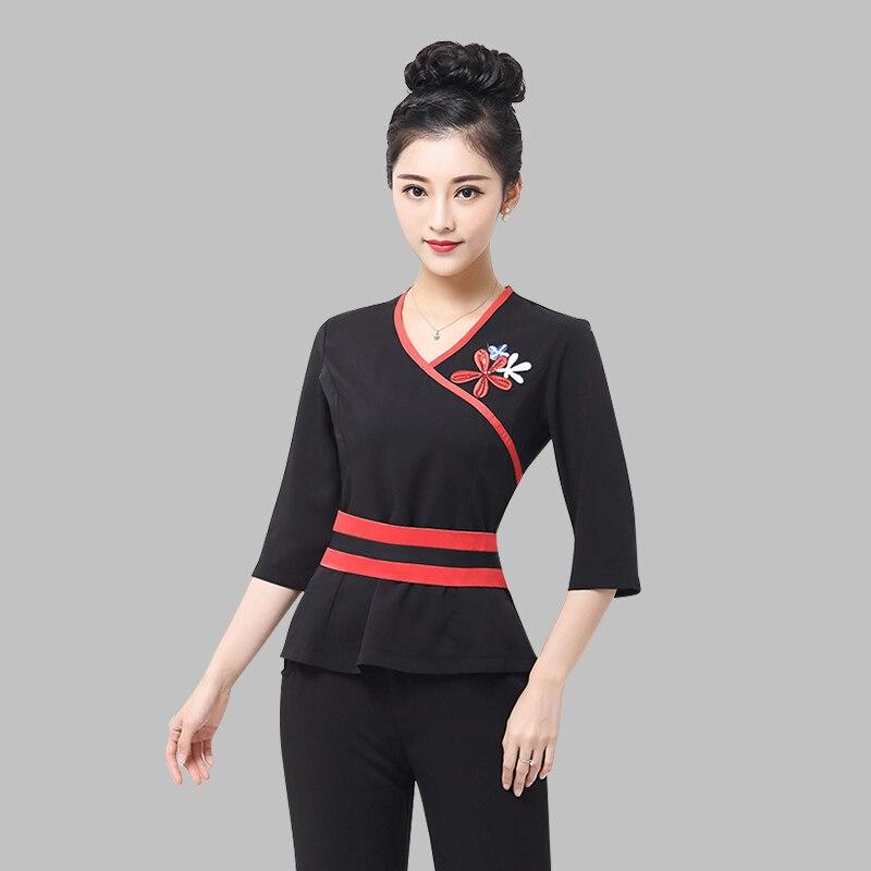 Popular spa uniform design buy cheap spa uniform design for Spa ladies uniform