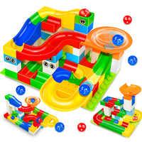 Marble Race Run Maze Ball Track LegoINGLs Duplo Building Blocks Sets Funnel Slide Big Size Bricks Educational Toys for Children