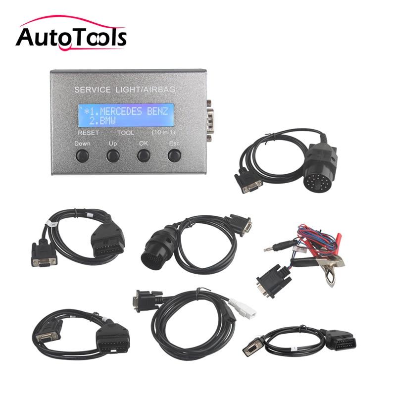 Uniwersalny 10 w 1 auto car Service Light i narzędzie do resetowania poduszki powietrznej samochodu na narzędzie diagnostyczne do samochodów