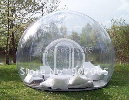 GB01 TPU infláveis Publicidade tenda/barraca inflável claro/Clear Prefab Tendas Bolha/inflável tenda globo + Reparação Kits