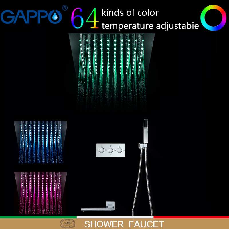 GAPPO Doccia Rubinetti miscelatore cascata bagno rubinetto pioggia LED a parete doccia a pioggia set doccia rubinetto miscelatore rubinetti
