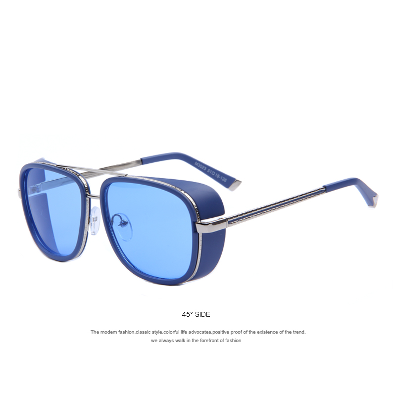 d360443d69 Classic IRON MAN 3 Matsuda TONY Steampunk gafas de sol hombres espejo marca gafas  Vintage gafas