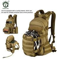 Protector Plus 25L Outdoor Tactical Backpack Bicycle Helmet Bag Nylon Waterproof Bag Cycling Backpack Men with 2.5L Water Bag