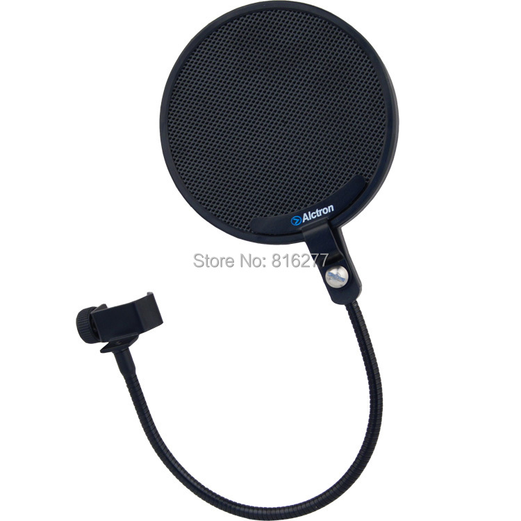 Alctron pf02 microphone pop filter bop cover metal mesh nylon alctron pf02 microphone pop filter bop cover metal mesh nylon double hood recording bop net in microphones from consumer electronics on aliexpress sciox Images