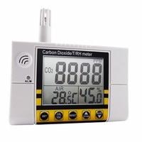 Цифровой настенный качество воздуха в помещении Температура RH углекислого газа CO2 метр Сенсор детектор 0 ~ 2000ppm диапазон