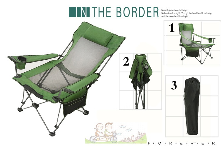 fishing roving chair sling chaise lounge garden picnin outdoor green blue grey color folded stool