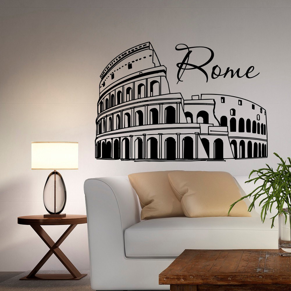 rome tamer field wall decal vinyl wall sticker for bedroom