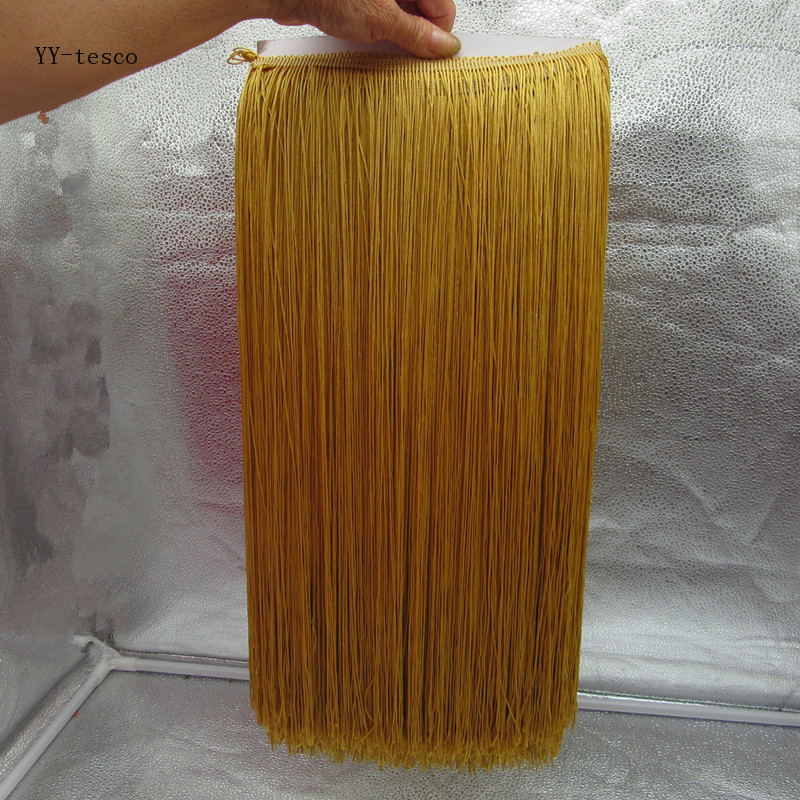 Wholesale 1 Yards 50cm Wide Fringe Trim Tassel Lace Gold Fringe Trimming Lace For DIY Latin Dress Stage Clothes Accessories