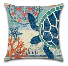 2pcs Sea Turtle Whale Hippocampus Octopus Comfortable Creative Cushion Cover Custom Size Decorative Throw Pillow Covers