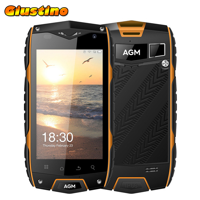 Original AGM A7 Waterproof Phone 4G Lte 2GB+16GB 4.0 inch Android 6.0 MSM8909 Quad Core 2930mAh GPS ZUG3 Phone