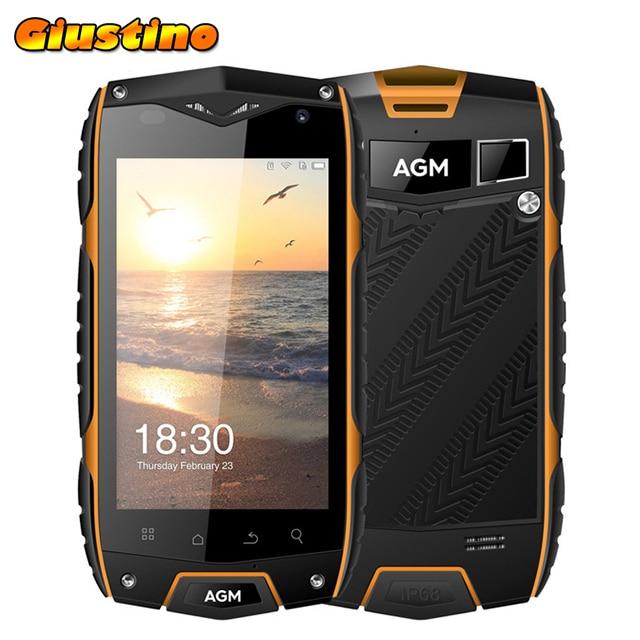 Original AGM A7 Waterproof Phone 4G Lte 2GB+16GB 4.0 inch Android 6.0 MSM8909 Quad Core 2930mAh GPS ZUG3 Phone
