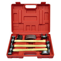 Generic 7pc Car Auto Bodywork Body Beating Beater Panel Dent Repair Tool Kit Hammer Set