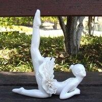 Elegant Porcelain Ballet Dancer Figurine Ceramic Girl Ballerina Miniature Doll Ornament Craft for Home Decoration Birthday Gift