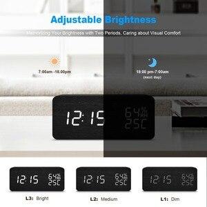 Image 4 - JINSUN Modern LED Alarm Clock Despertador Temperature Humidity Electronic Desktop Digital Table Clocks