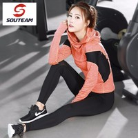 SOUTEAM Brand Women Yoga Shirts Women Jackets Yoga Clothing Sport Shirt Women Sport Clothes For Women