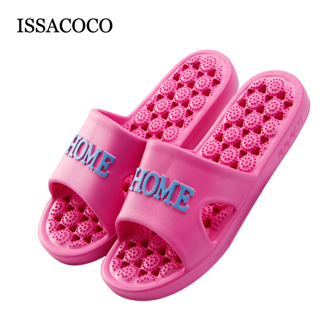 Issacoco Women S Mage Slippers Candy Color Non Slip Light Weight Beach Indoor Flip