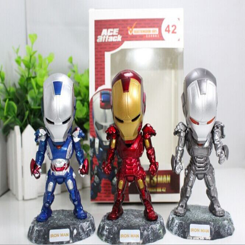 The Avengers Iron Man 2 PVC Action Figures Doll Ironman Brinquedos Anime Boys Birthday Gift