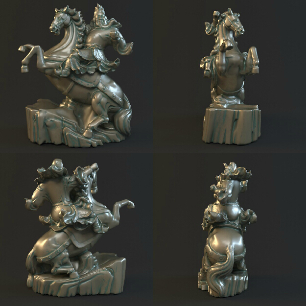 New arrival 3d model stl relief for cnc machine in STL file format Hero to ride a horse martyrs faith hope and love and their mother sophia 3d model relief figure stl format religion for cnc in stl file format