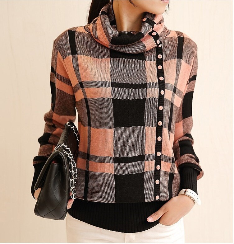 Turtleneck Sweater Womens New Fashion Winter Thick Warm ...