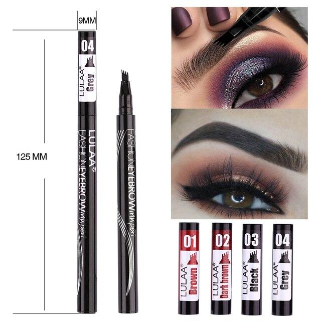 2019 Microblading Eyebrow Pencil Waterproof Fork Tip Tattoo Pen Tinted Fine Sketch Eye Brow Pencils Long Lasting Eyebrows 5