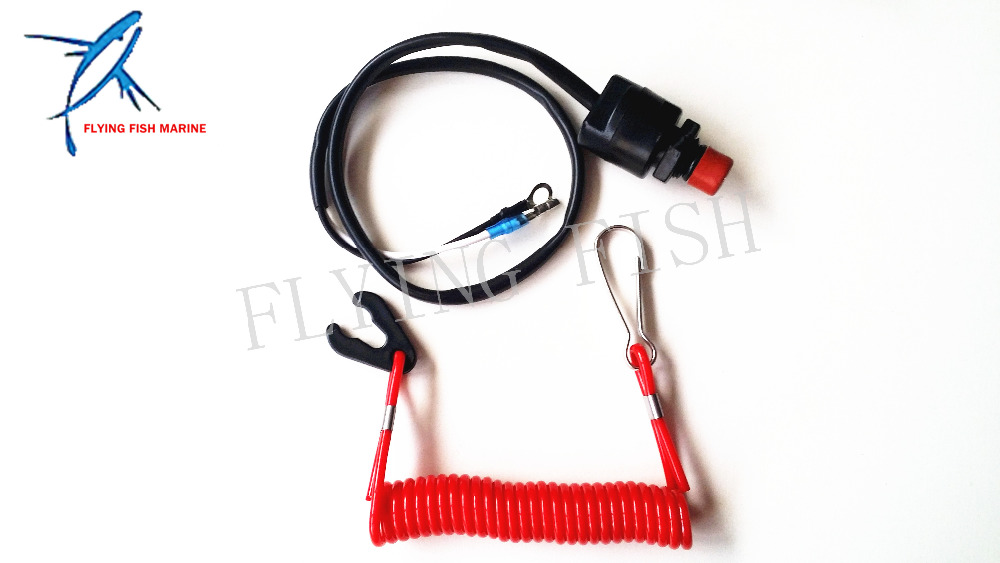 Free Shipping, Boat Motor Kill Stop Switch & Safety Tether Lanyard for YM / HD / Tohatsu outboard motor parts