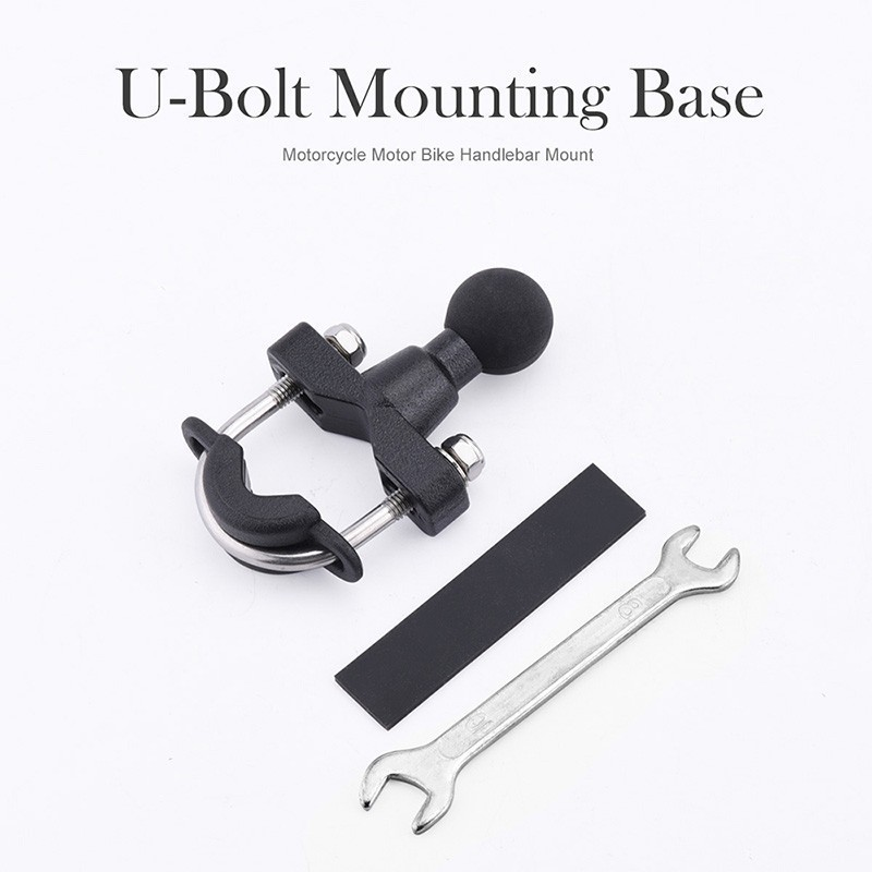 NS Modify Motorcycle Handle Bar Rail Mount Rail Rod Mount Base With 1 inch Ball For Gopro GPS Work Ram Mounts in Handlebar from Automobiles Motorcycles